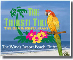 Tiki Bar The Winds Resort Dining Ocean Isle Beach NC